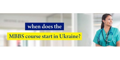 When does the MBBS course start in Ukraine?